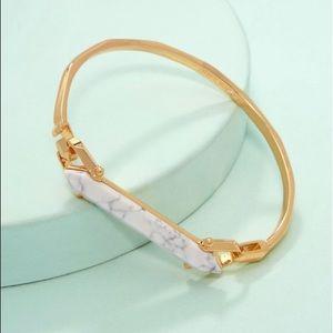 Stella & Dot Stone Rebel Bracelet (White)